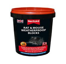 10 X RENTOKIL MOUSE&RAT KILLER BIG 20G WEATHERPROOF BLOCKS  NEW IMPROVE FORMULA