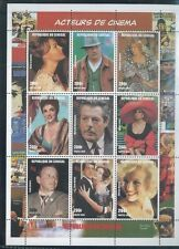 Cinema Actors Sheet of 9 #1347 Mnh - Senegal E2