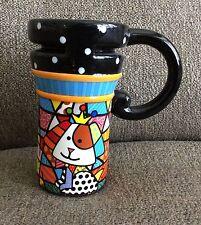 BRITTO Travel Mug. Dog design. EUC! PRICE CUT!