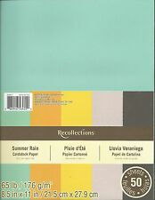 "New Recollections 8.5x11"" Cardstock Paper Summer Rain Orange, Green 50 Sheets"