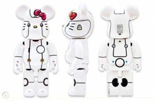 Medicom Bearbrick 1000% Action City 2018 Hello Kitty Robot • White Version NEW