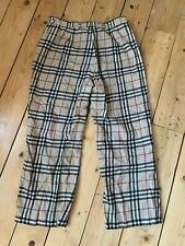 Vintage Burberry London Haymarket Check, tan, red, black trousers 12 reg