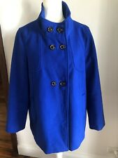MILLERS sz 14 Royal Blue Double Breasted Short Coat GUC