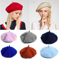 Beret Hats Women Winter French Hat Girls Solid Color Fashion Autumn Winter Beret