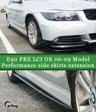 CARKING GLOSSY BLACK PAINTED 06-09 BMW E90 PRE LCI SIDE SKIRTS EXTENSION SPOILER