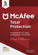 McAfee Total Protection 2018 5 PC / Geräte / 1Jahr Vollversion Antivirus