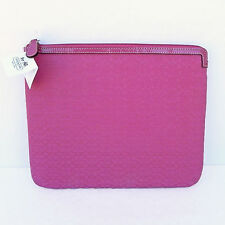 "COACH Signature ""C"" Padded Tablet Universal Sleeve 61992E Punch Pink"