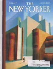 OCT 19 2009 NEW YORKER vintage magazine - WORLD OF BOOKS