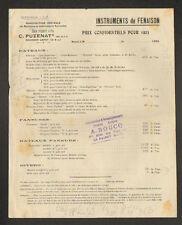 """LE RAINCY (93) MACHINES AGRICOLES C. PUZENAT """"A. BOUCQ Représentant"""" Tarifs 1922"""