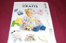 "McCalls Pattern # M4736 - Baby Doll Clothes In Two Sizes 11""-13"" &  14""-16"" -NEW"