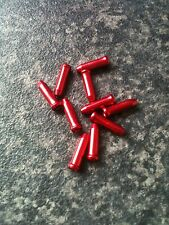 10 x Red Brake / Gear Cable End Tidys / Crimps