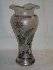 Irisierende Glasvase WEIDENSTEINER FRAUENAU handbemalt Rachelkristall 1986