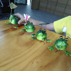 4-piece Adorable Lovely Green Decorative Frogs Figurine Home Decoration