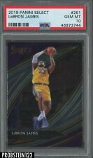 2019 Panini Select Courtside #261 Lebron James Lakers PSA 10 GEM MINT