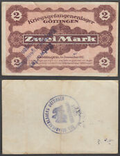 Germany 2 Mark 1917 (VF) Condition GOTTINGEN LAGER WWI CAMP WWI