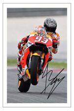MARC MARQUEZ SIGNED PHOTO PRINT AUTOGRAPH MOTO GP