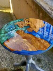Round Epoxy Table Furniture Wooden Walnut table Dining/Living Decorative Gifts