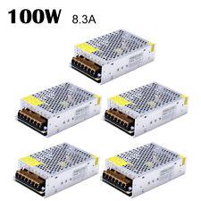 5 XAC 110V-220V TO DC 12V 8.3A 100W Switch Power Supply Driver Adapter LED Light