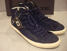 D.A.T.E. MEN'S BLENDER MILITARY BLUE SIZE 10 SHOES ANKLE HIGH SNEAKERS