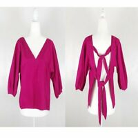 Zara Pink Tied Back Blouse Sz S