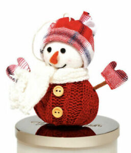 Bath & Body Works Red Snowman Magnetic Candle Topper NEW WITH TAGS!