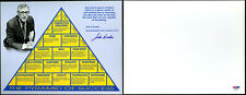 John Wooden SIGNED 8x10 Photo Pyramid of Success UCLA coach PSA/DNA AUTOGRAPHED