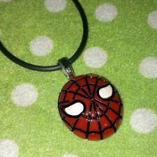 Superhero Spiderman Inspired Pendant Necklace Jewellery, Kids Gift Party Present
