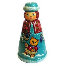Fille de neige Décoration pour sapin de Noël Statuette en Bois Collection Russe