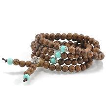 108 Sandalwood Buddhist Buddha Meditation Prayer Bead Mala Bracelet Necklace