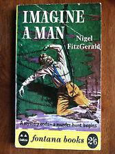IMAGINE A MAN Nigel Fitzgerald Fontana U.K. 1961 Print Great Cover Art L@@K WOW!