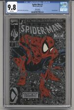 SPIDER-MAN  #1 CGC 9.8 WPGS TODD MCFARLANE STORY C&A SILVER EDITION LIZZARD 1990
