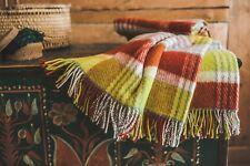 Blanket Throw Bed Sofa Fleece Cozy Plaid Soft Warm 100% Wool 130x210cm Maple Top