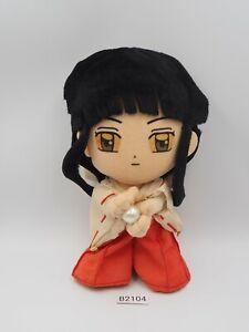 "Rare Kikyo Miko B2104 Inuyasha Banpresto 2002 Plush 7"" USED Toy Doll Japan"