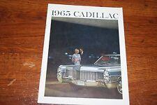 1965 CADILLAC   DEALER  SALES BROCHURE  ORIGINAL