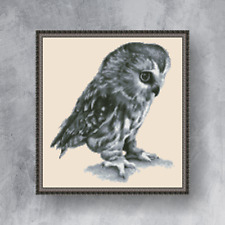 LITTLE OWL - Counted cross stitch kit (with DMC threads)