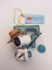 Snoopy Figurine Letter F Collection Brand New in Box 8576 Figure New in Box
