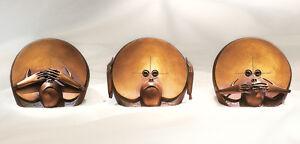 Nicht hören (3 Affen), Paul Wunderlich, Skulpturen, Bronze, nur 350 Exemplare