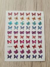 Metallic Nagel Sticker Schmetterling Butterfly Nailwrap Nageldesign Nailart