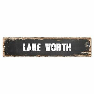 SP0351 LAKE WORTH Street Sign Bar Store Cafe Home Kitchen Chic Decor Gift
