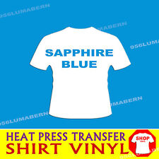 """1 roll 15"""" SAPPHIRE Heat Press thermal transfer vinyl for T shirt (cotton+more"""