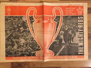 Liverpool FC - 1977 Souvenir of Liverpool's Greatest Season  Newspaper
