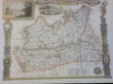 """Surrey Antique Colour Map by Thomas Moule County Maps of Old England 14"""""""