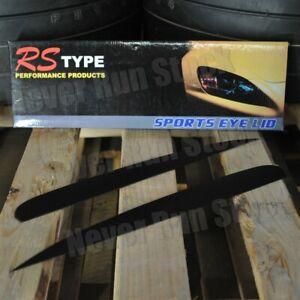 FOR HONDA S2000 MATTE BLACK EYELIDS EYEBROWS FLEXIBLE TRIM HEADLIGHTS COVER PAIR