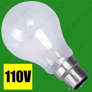 6x 100W 110V BC Pearl GLS Light Bulb Construction Site Festoon Bayonet B22 Lamps
