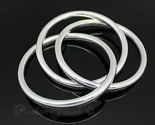 GORGEOUS RUSSIAN TRINITY THREE LINKED GOLF STERLING SILVER SP BANGLE BRACELET