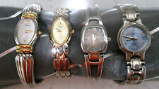 Lot 4 Ladies Watches, new batteries - All Run, Very good condit, higher quality