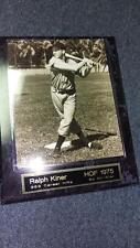 Ralph Kiner 10x13 Wood Plaque ~8x10 Photo w/Brass Nameplate~ HOF 1975 (M3)