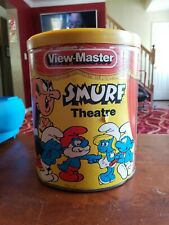 Vintage View Master Smurf Theatre Canister Set Working , no reels