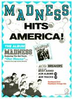"""1982 """"Madness"""" Our House""""  Song Release Promo Trade Reprint Advertisement"""
