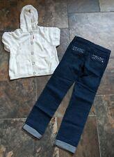 NWT Gymboree Sz 10 L 12 TRES FABULOUS Ivory White Hoodie Sweater Dark Jeans